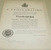 Image of John G. McCullough Thanksgiving Proclamation - McCullough, John Griffith