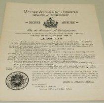Image of John G. McCullough Arbor Day Proclamation - McCullough, John Griffith