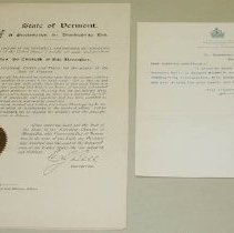 Image of C. J. Bell Thanksgiving Proclamation - Bell, Charles J.