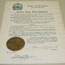 Image of John A. Mead Arbor Day Proclamation - Mead, John R.