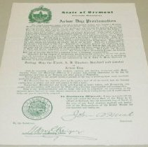 Image of John A. Mead Arbor Day Proclamation - Mead, John A.
