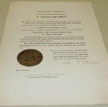 Image of Allen M. Fletcher Thanksgiving Proclamation - Fletcher, Allen M.