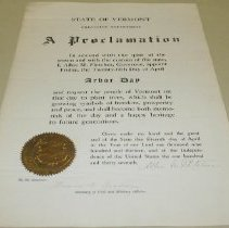 Image of Allen M. Fletcher Arbor Day Proclamation - Fletcher, Allen M.