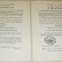 Image of Horace F. Graham Thanksgiving Proclamation - Graham, Horace F.