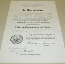 Image of Percival W. Clement Thanksgiving Proclamation - Clement, Percival W.