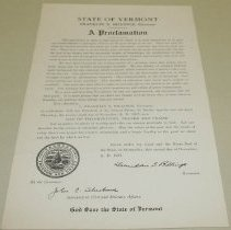 Image of Franklin S. Billings Thanksgiving Proclamation - Billings, Franklin S.