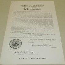 Image of Franklin S. Billings American Education Week Proclamation - Billings, Franklin S.