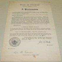Image of John E. Weeks Thanksgiving Proclamation - Weeks, John E.