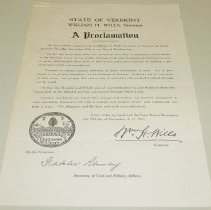 Image of William H. Wills Thanksgiving Proclamation  - Wills, William Henry