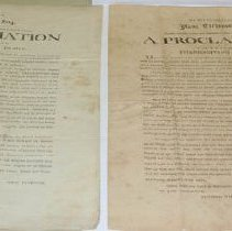 Image of Isaac Tichenor Thanksgiving Proclamation - Tichenor, Isaac
