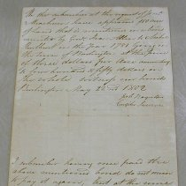 Image of Land Appraisal signed by Ira Allen 1802 -