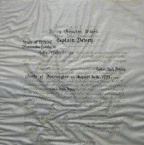 Image of Captain Elijah Dewey Painting Affidavit  - Wilson, Kelly Brayton