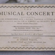 Image of Book - The musical concert: containing, a concise introduction, with a suitable proportion of tunes and anthems, calculated for the use of schools and religious worship, never before published.