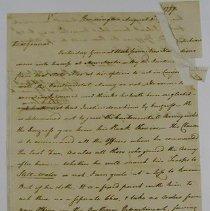 Image of Benjamin Lincoln Letter - Lincoln, Benjamin