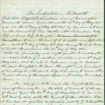 Image of Ada Elizabeth Sinclair Indenture 1868 -