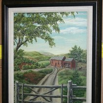 Image of Painting - Red House