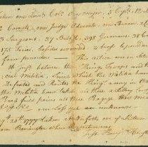 Image of Battle of Bennington Report by B. Henshaw 1777 - Henshaw, Benjamin