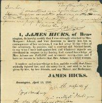 Image of James Hicks Apology  - Hicks, James Sr.