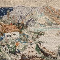 Image of Crewelwork - The Shepherd Comes Home from the Hills