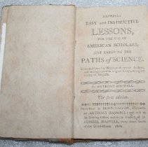 Image of Book - Haswell's Easy and instructive lessons, for the use of American scholars, just entering the paths of science : compiled from the writings of various authors, and interspersed with original essays, on a great variety of subjects