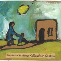 Image of Painting - Senators Challenge Officials on Contra