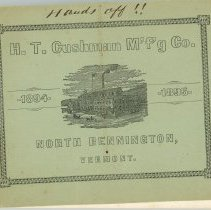 Image of H.T. Cushman Manufacturing Company Catalog, 1894-95 - H.T. Cushman Manufacturing Company
