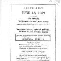 Image of H.T. Cushman Manufacturing Company Pricelist (photocopy) - H.T. Cushman Manufacturing Company