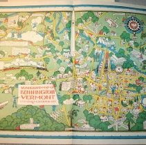 Image of Map - Wonderland Map of Bennington, Vermont 1777 Sesqui-Centennial 1927