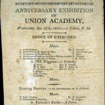 Image of Union Academy Exhibition 1813 - Union Academy