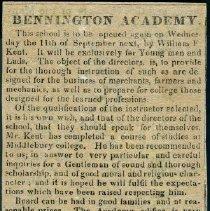 Image of Bennington Academy Catalogs and Advertisement -