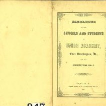 Image of Union Academy Catalog 1846-1847 - Union Academy