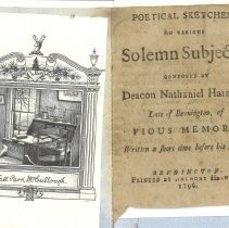 Image of Pamphlet - Poetical sketches, on various solemn subjects, / composed by Deacon Nathaniel Harmon, late of Bennington, of pious memory. ; Written a short time before his death.