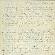 Image of Bennington Battle Day Commemoration Letter - Stark, John