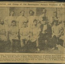 Image of Newclippiing of Edward Norton and Bennington Pottery Workers -