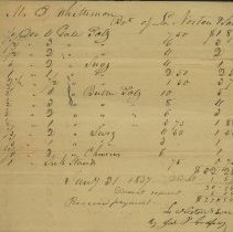 Image of Bill of L. Norton & Son to D. Whittemore 1837 -
