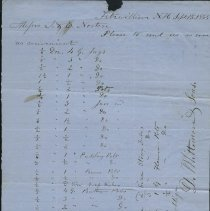 Image of J. & E. Norton Order from D. Whittemore and Sons 1854 -