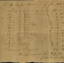 Image of John Norton Bill to Rupert Brown 1813 -