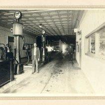 Image of Inside photos of West Salem Body Shop building. - Photograph