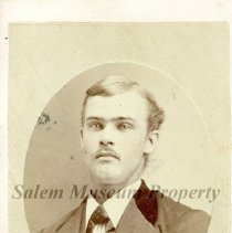 Image of Young man with mustache wearing wide lapel jacket - Photo Book