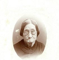 Image of Elderly Lady wearing Glasses - Unidentified - Photograph