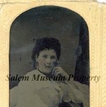 Image of Unidentified young woman in white dress