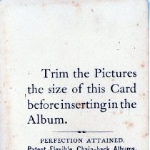 Image of Back Side of Instruction for Photo Album
