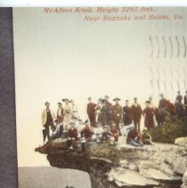 Image of McAfees Knob - Picture Postcard