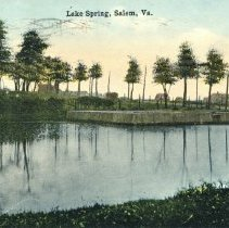 Image of Lake Spring Park, Salem, VA Circa 1900