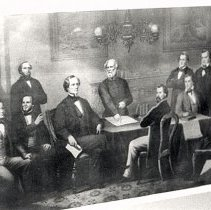Image of Jefferson Davis with Cabinet with Lee