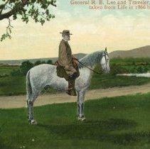 Image of General Lee astride his horse, Traveler
