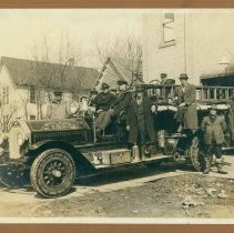 Image of Buildings and Facilities: Fire Department, Midland - Midland's First Fire Truck