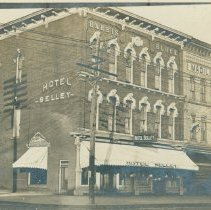 Image of Midland Business - Image of the Harris Block showing the Hotel Seeley and the Madill House