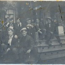 Image of Education - Students on the steps of the High School at McDonald Street