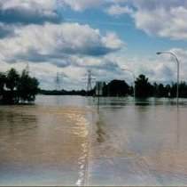 Image of Disasters - 1986 Flood--Poseyville Road